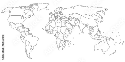 Simple outline of world map on transparent background stock image simple outline of world map on transparent background gumiabroncs Gallery
