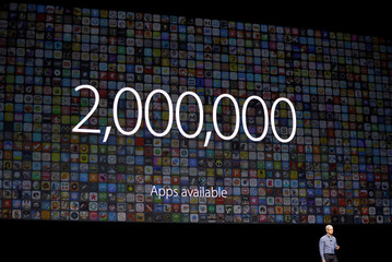 Apple Inc. CEO Cook speaks about apps the company's World Wide Developers Conference in San Francisco