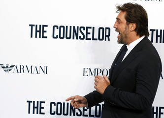"Javier Bardem arrives for a special screening of ""The Counselor"" in Leicester Square, London"