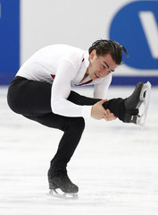 Max Aaron of the U.S. performs during the men's short program at the Rostelecom Cup ISU Grand Prix of Figure Skating in Moscow