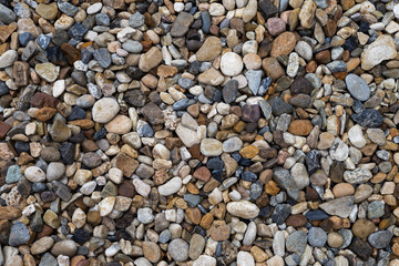 Pebble stone background, outdoor day light