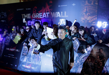 """Hong Kong actor Andy Lau attends a red carpet event promoting Chinese director Zhang Yimou's latest film """"Great Wall"""" in Beijing"""