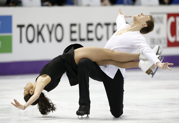 Ilinykh and Katsalapov of Russia perform their ice dance free dance at the ISU World Figure Skating Championships in London, Ontario