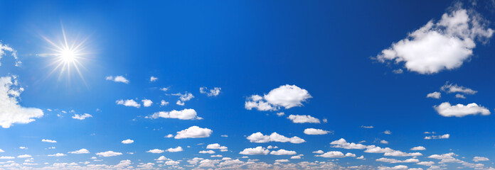 background from blue sky with white clouds