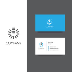 Electronics services or goods company logo and business card template