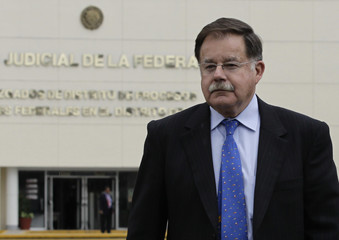 Lawyer for former state governor Granier, Luengo, leaves Reclusorio Oriente prison, where Granier was attending his judicial hearing inside a court in Mexico City