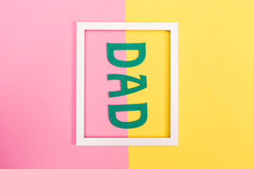 Father's Day theme on a bright background