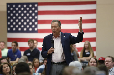 Republican U.S. presidential candidate Kasich addresses campaign town hall event in Orem, Utah