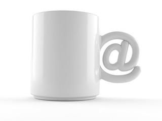 Mug with e-mail symbol