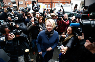 Prosecutor Ingrid Isgren from Sweden arrives at Ecuador's embassy to interview Julian Assange in London