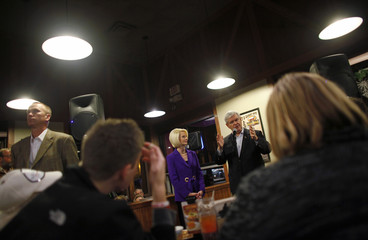 U.S. Republican presidential candidate and former Speaker of the House Gingrich speaks during a campaign stop in Le Mars