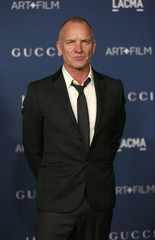 Sting poses at the Los Angeles County Museum of Art (LACMA) 2013 Art+Film Gala in Los Angeles