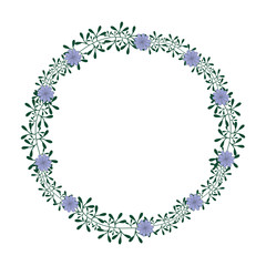 decorative frame with flowers over white background. colorful design. vector illustration