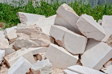 marble mound rubble, background