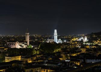 Verona - veduta notturna da San Zeno in Monte