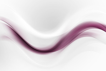 Pink and white bright waves art. Blurred effect background.