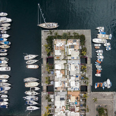 Boats in the port.