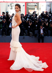 Model Barbara Palvin arrives for the opening ceremony of the 73rd Venice Film Festival in Venice