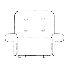 Comfortable sofa isolated icon vector illustration design