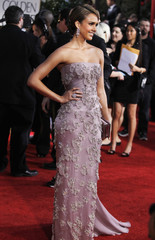 Actress Alba arrives at the 69th annual Golden Globe Awards in Beverly Hills