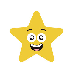 Happy star character