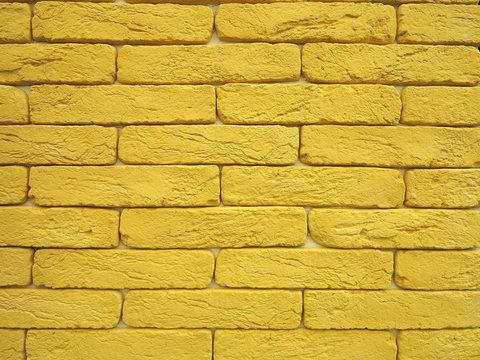 New yellow brick wall texture grunge background