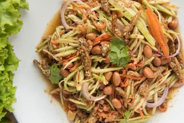 Spicy Mango Salad,Thai style food
