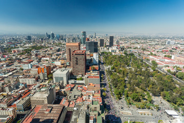 Tuinposter Luchtfoto Mexico City skyline aerial view