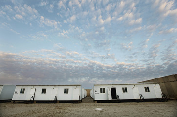 Housing units remain at the nearly deserted Camp Adder, now known as Imam Ali Base, near Nasiriyah