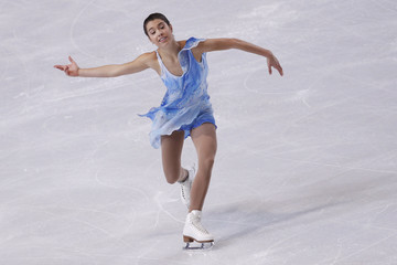Czisny of the U.S. performs during the Ladies Free Skating program in the Bompard Trophy event at Bercy in Paris