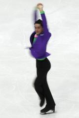 Fernandez of Spain performs during men's short program at European Figure Skating Championships in Bern