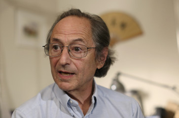 Michael Levitt speaks at his home in Stanford