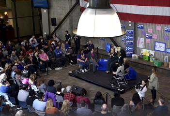 U.S. Democratic presidential candidate Hillary Clinton speaks during a roundtable at the College of Southern Nevada in North Las Vegas