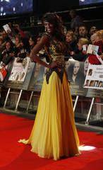 "Actress Judi Shekoni arrives for the European premiere of ""The Twilight Saga: Breaking Dawn Part 2"" in London"