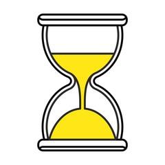 black hourglass icon