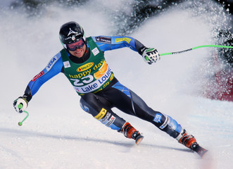 U.S. skier Andrew Weibrecht in action during the Men's World Cup Super-G race in Lake Louise