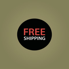 free shipping icon. flat design