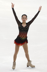 Asada of Japan performs during the ladies short program competition at the ISU Four Continents Figure Skating Championships in Taipei