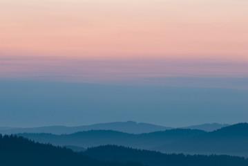 Pastel background, beautiful mountain landscape