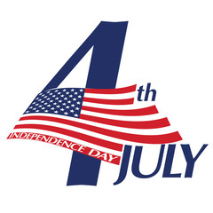 Symbol of July 4, Independence Day. Vector illustration