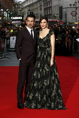 """Cast members Rachel Weisz and Colin Farrell arrive at the Gala screening of the film """"The Lobster"""" during the British Film Institute Film Festival at Leicester Square in London"""