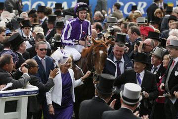 Joseph O'Brien on Australia smiles after winning Derby during Epsom Derby festival in Epsom, southern England