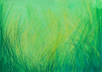 Pastel painting grass background.