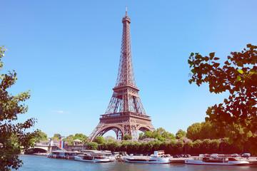 Paris mit Seine und Eiffelturm / Tour Eiffel / Eiffeltower