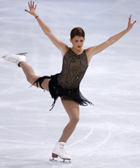 Samantha Cesario of the US performs during her ladies free skating program at the ISU Bompard Trophy event at Bercy in Paris