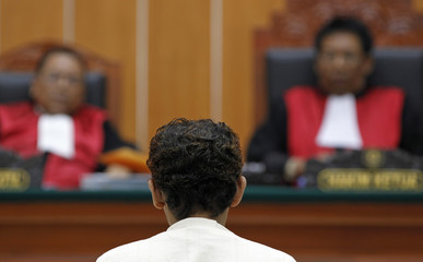 Indonesian militant Patek sits in courtroom to read final defence, in Jakarta