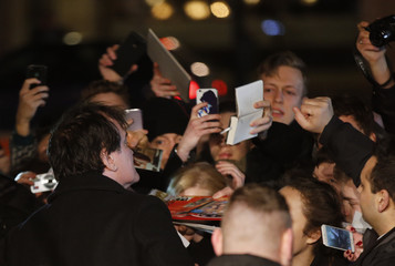 """Director Tarantino arrives for the German premiere of """"The Hateful Eight"""" at Zoo Palast cinema in Berlin"""