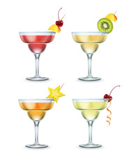 Set of Margarita cocktails