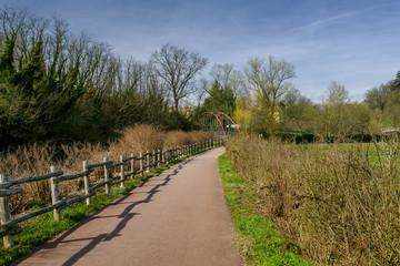 Bicycle path of Lambro valley (Brianza, Italy)