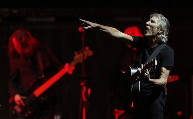 """Pink Floyd co-founder and musician Waters performs during the last show of his """"The Wall"""" tour in Quebec City"""